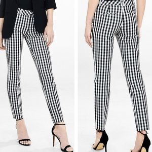 Pants - Express checkered editor pants